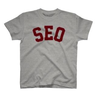 SEO(えんじ) T-shirts