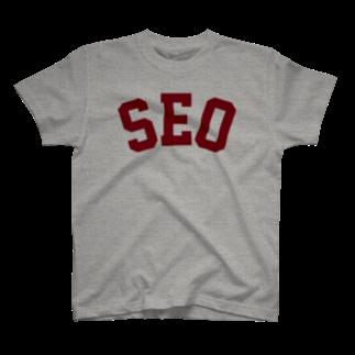 ゴンのSEO(えんじ) T-shirts