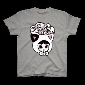 bAbycAt イラストレーションのCOTTON BABY(CAT) T-shirts