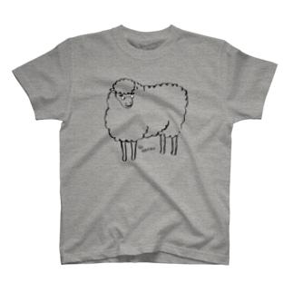 メガネのひつじ T-shirts