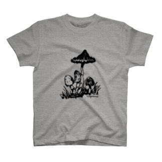 ササクレヒトヨタケ T-shirts