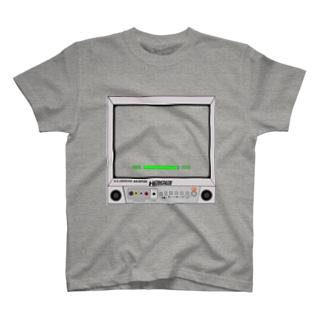 ブラウン管にうつす平成時代。(gray)  T-shirts