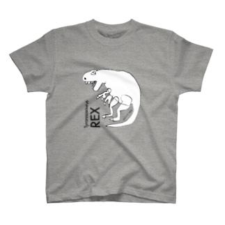 「もうすぐ5歳のイラストレーター」が描いたティラノサウルス T-shirts