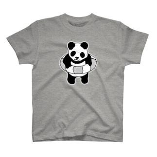 パンダ浮き輪 2 T-shirts