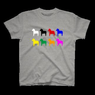 Ccraftのダーラナホース_ワクワク T-shirts