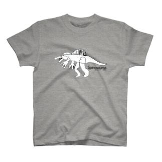 「もうすぐ5歳のイラストレーター」が描いたスピノサウルス(最新復元予想図Ver) T-shirts