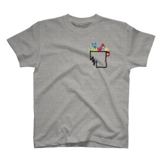 モンスターポケットボロボロ(BK) T-shirts