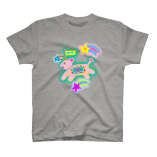 bell_narasu_hanaのフラワー犬 T-shirts
