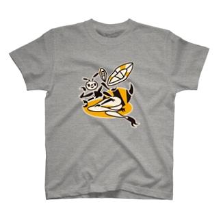 manaBeeの蜂ガール T-shirts