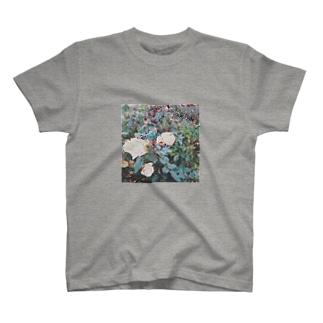 アンティークローズ(黄) T-shirts