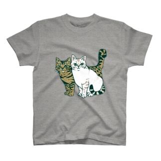 仲良し2匹 T-shirts