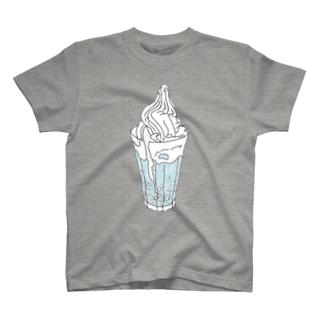 クリームソーダ(水色) T-shirts