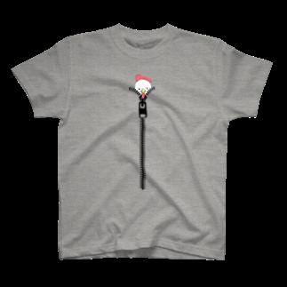 タケトリの籠のジッパーからニワトリ T-shirts