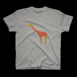 reecoのおさんぽ(キリン)  L T-shirts