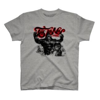 「TOTONOI-CHANG」Tシャツ・ブラック ブラック T-shirts