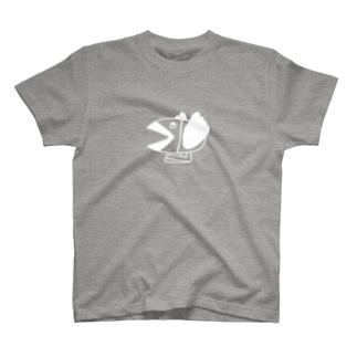 カラフル白カラス T-shirts