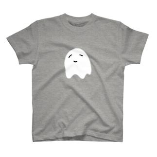 ゆるふわおばけまんじゅう 白抜き T-shirts
