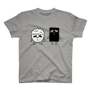 しろめしくんとのり子ちゃん T-shirts
