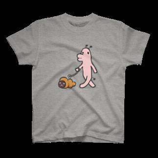 タキヲ@スタンプ販売「どうぶつくん」のどうぶつくん(さんぽ) T-shirts
