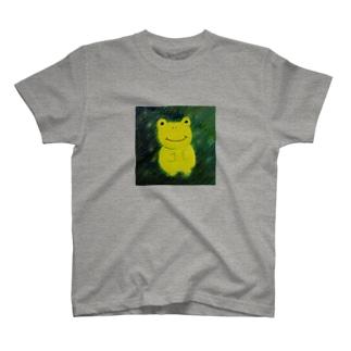 星を待つかえる T-shirts