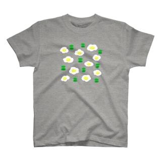 めだまやきフラワー T-shirts