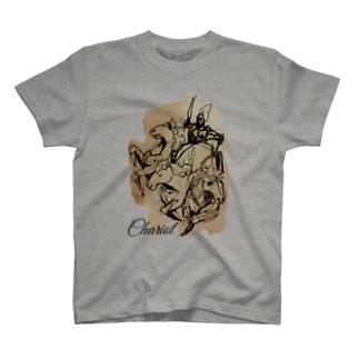 エンブレムラフ画Tシャツ T-shirts