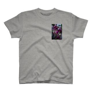 赤紫のお花 T-shirts
