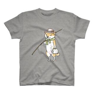 釣り柴 T-shirts