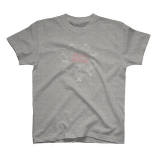 文鳥七変化・白線イラスト T-shirts