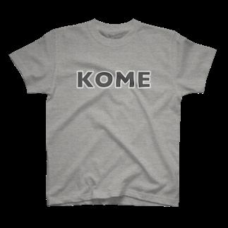 efrinmanのコメ グレー T-shirts