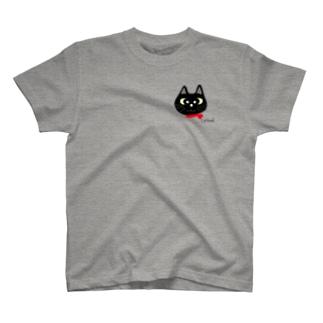 黒猫シリーズ ワンポイントマスク T-shirts