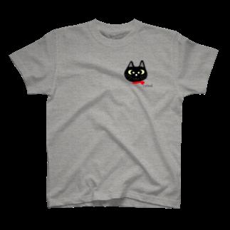 Catoneの黒猫シリーズ ワンポイント T-shirts