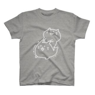 むにむにハムスター(白線) T-shirts