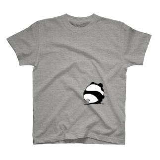 しゃがみパンダ T-shirts