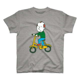 Oedo CollectionのBicycle Boy/濃色Tシャツ T-shirts
