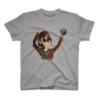 アトリエ葱の地球は私の手の中に T-shirts