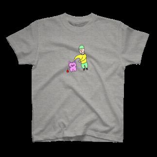 たのしマーケットのぼくとねことうんち T-shirts