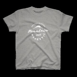 BASE-CAMPのBASE MOUNTAIN 01 WHITE T-shirts