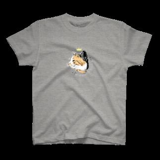 MYAMのにんまりキャット三毛front T-shirts