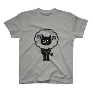 ひつじどうぶつ(ねこ・染毛) T-shirts