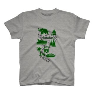 カオニャオ分布図(ミドリ) T-shirts