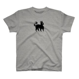 ツバメ堂の黒猫 T-shirts