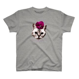 パンジー・チョコ T-shirts