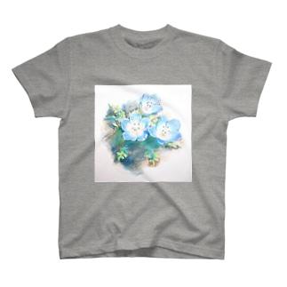 ネモフィラ 色鉛筆イラストグッズ T-shirts