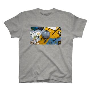 Qoobo HUSKY GRAY T-shirts