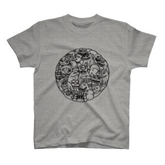 「照」パターン肥前狛犬 T-shirts