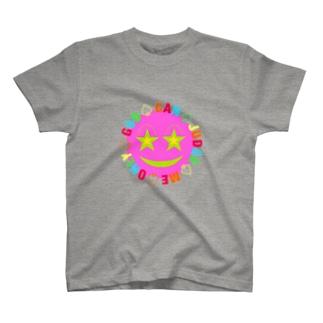 ピンク スマイリー  T-shirts