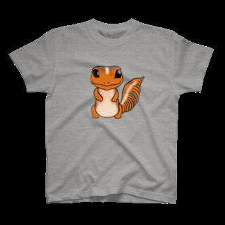 とかげもどきのしっぽ。のやまももイラスト T-shirts