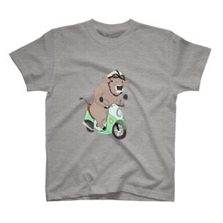 原チャリぶんぶんブラウンスイス牛さん T-Shirt