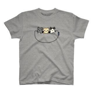 猫たち専用ポケット T-Shirt